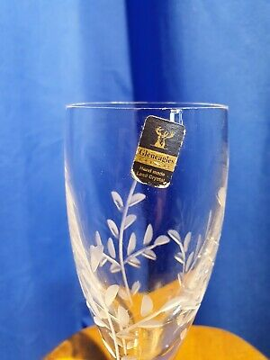 £12 • Buy Gleneagles Lead Crystal Etched Champaign Flute Aria Design 21 Cm Tall