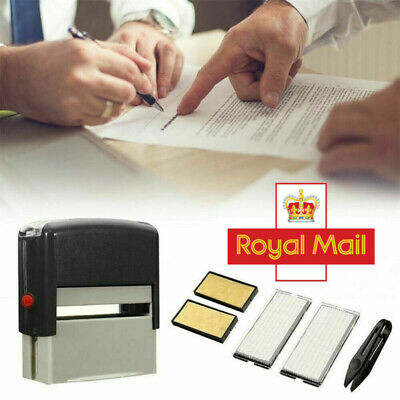 £11.49 • Buy DIY Personalised Self-Inking Rubber Stamp Kit Customized Business Name Address