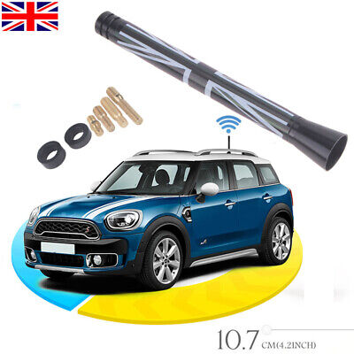 3  Car Black Union Jack UK Flag Short Antenna For MINI Cooper S R55 R56 R60 • 6.99£