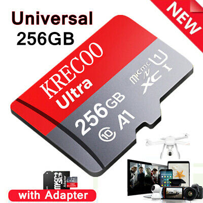 $11.11 • Buy 256GB 128GB 64GB Micro SD Memory Card Fast Class10 Flash TF Card With Adapter US