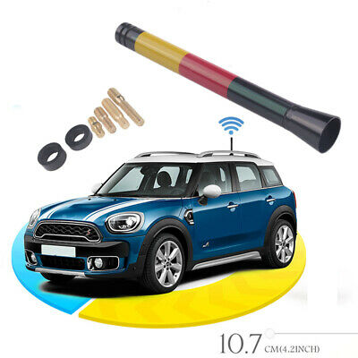 4.2  Car Styling Germany Flag Short Antenna For MINI Cooper S R55 R56 R60 NEW • 2.99£