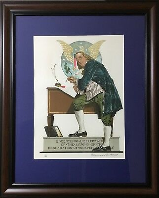 $ CDN4890.21 • Buy Norman Rockwell Rare Image Limited Edition Hand Signed Lithograph Edition  200