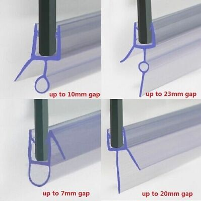 Shower Seal Strip | 4 To 6mm Glass | Up To 30mm Gap | Bath Screen Door | Clear • 6.99£