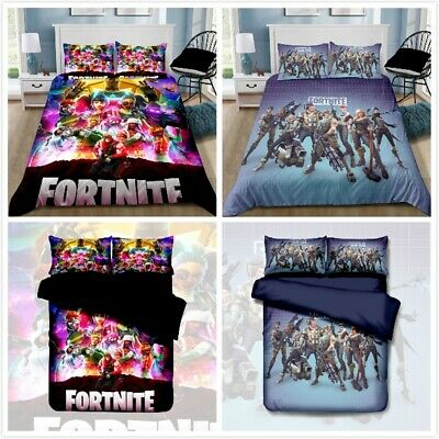 AU42.90 • Buy Fortnite Colorful Battle Royale Quilt/Doona/Duvet Cover Pillowcase Bedding Set