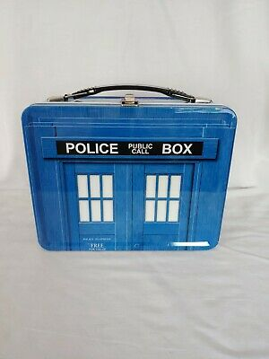 £15.48 • Buy Dr. Who Police Public Call Box Metal Lunch Box Good Condition