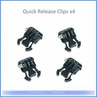 4x Quick Release Buckles, For GoPro Type Mounting Plates • 2.99£