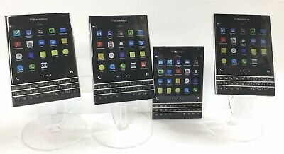 "$ CDN550.99 • Buy LOT OF 4 BlackBerry Passport 32GB 4.5"" BLACK Rogers LTE Smartphone E2242A"