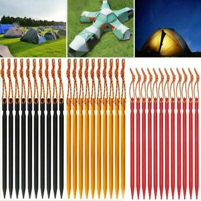 £6.99 • Buy 20X Heavy Duty Tent Pegs Aluminium Ground Metal Stakes Long Lightweight Camping