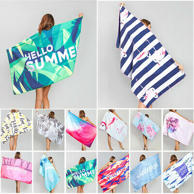 AU26.99 • Buy 80x160cm Ex Large Microfibre Sand-free Beach Towel Quick Dry Travel BPCh Towel