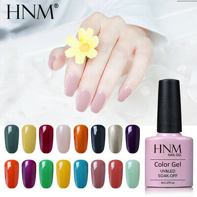 Soak Off Color Gel Nail Polish Lacquer Varnish Manicure Top Base Coat HNM UV LED • 2.99£