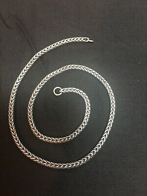 """$40 • Buy Troll Beads Original Foxtail Necklace Silver 15.7"""" (14.7"""" Actual Length)"""