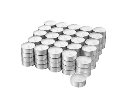 £9.45 • Buy IKEA Glimma 100 PCS Tea Light Candles Unscented White Wax Tealight 4 Hours 38mm
