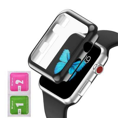 AU3.99 • Buy Tempered Glass Screen Protector Case Watch Frame For Apple Watch Series 4/3/2/1