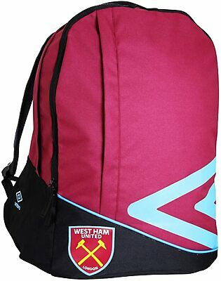 Official Umbro West Ham Football Club Childrens Large Sports School Backpack • 24.49£