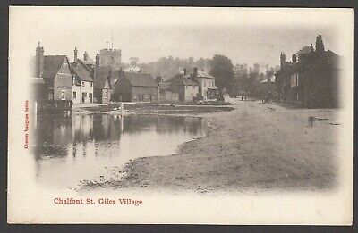 Postcard Chalfont St Giles Village Nr Amersham Early View By Chester Vaughan • 4.99£