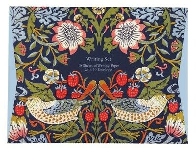 £5.99 • Buy William Morris Strawberry Thief Writing Set - 10 Sheets Of Paper With Envelopes