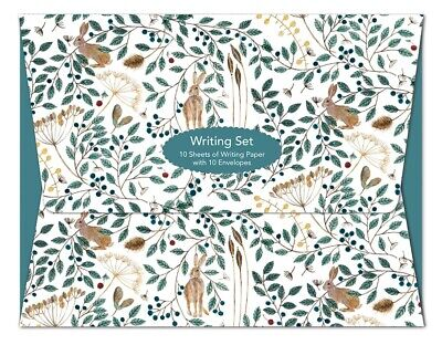 £5.99 • Buy Dee Hardwicke Hare And Berries Writing Set - 10 Sheets Of Paper With Envelopes