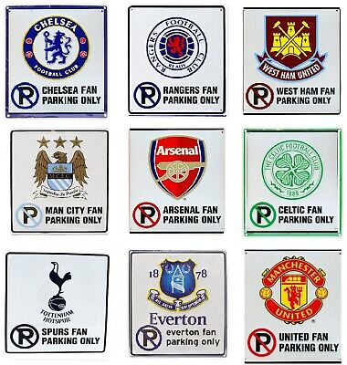 Official New Football Club FC Fan Only Parking Sign Man Utd Liverpool & More • 7.99£