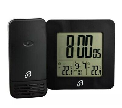 Auriol Radio Controlled Temperature Station With MSF Signal German Made  BLACK • 14.49£
