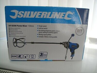 £37.50 • Buy SILVERLINE HEAVY DUTY CEMENT PLASTER MORTAR PAINT MIXER MIXING PADDLE 240V,850w