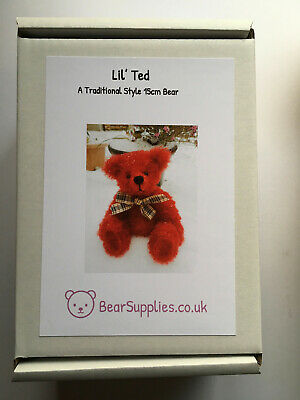 'Lil' Ted ' Bear Making Kit In  RED • 20£