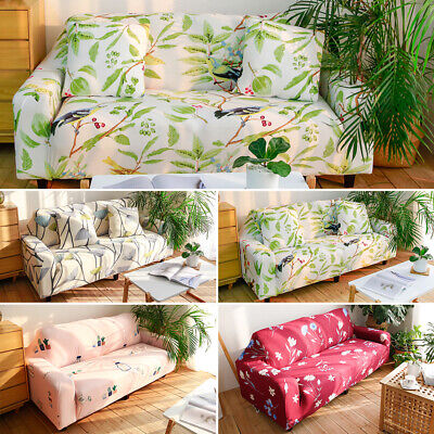 AU28.99 • Buy 1/2/3/4 Seater Stretch Sofa Cover Couch Lounge Recliner Chair Floral Slipcover
