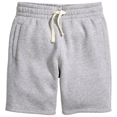 $21.99 • Buy Mens Soft Cotton Grey Shorts For Casual Active Or Gym