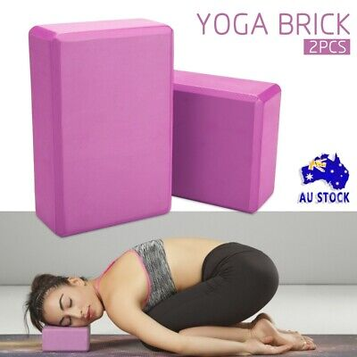 AU15.50 • Buy 2Pcs Popular Yoga Block Foaming Brick Exercise Practice Fitness Gym Sport Tools