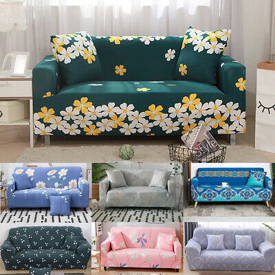 AU39.99 • Buy Easy Fit Stretch Floral Sofa Couch Cover Slipcover Protector 1/2/3/4 Seat Lounge