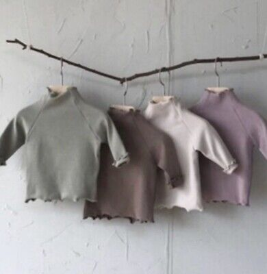 £7 • Buy Brown Baby Turtleneck/polo Neck Top Age 6-12 Months