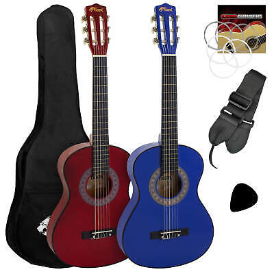 Tiger Childrens 3/4 Size Classical Guitar Package – Red & Blue • 39.95£