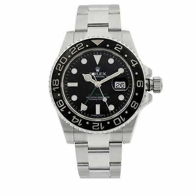 $ CDN16702.41 • Buy Rolex GMT-Master II Stainless Steel Black Dial Automatic Mens Watch 116710N