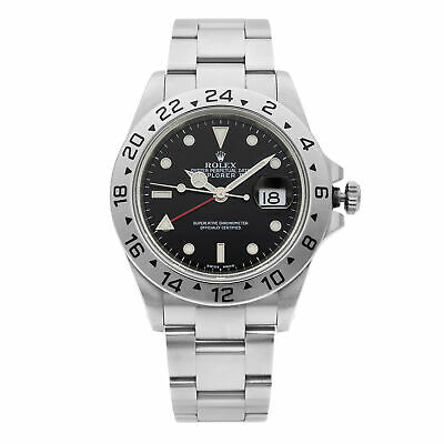 $ CDN8443.23 • Buy Rolex Explorer II Stainless Steel Holes Black Dial Automatic Mens Watch 16570