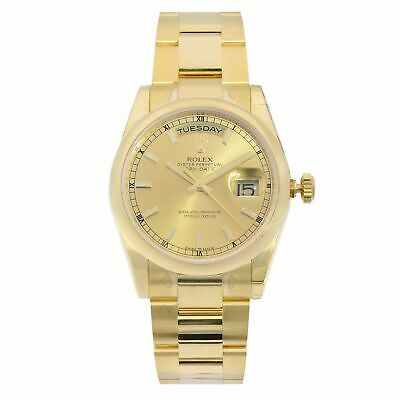 $ CDN35867.10 • Buy Rolex Day-Date 36mm 18K Yellow Gold Champagne Dial Automatic Mens Watch 118208