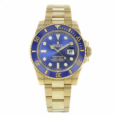 $ CDN46000.94 • Buy Rolex Submariner 116618 Blue On Blue 18K Yellow Gold Automatic Mens Watch