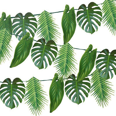 Artificial Tropical Palm Garland For Jungle Party Luau Hawaiian Party Backdrop • 17.99£