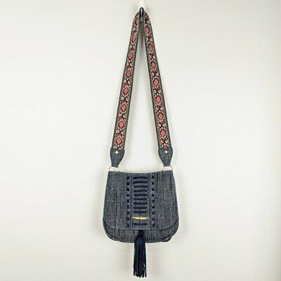 $ CDN52.73 • Buy Steve Madden Guitar Strap Denim Crossbody Saddle Bag