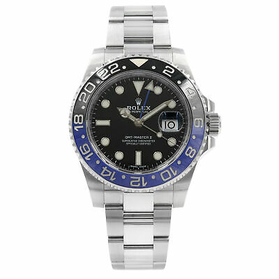 $ CDN23389.16 • Buy Rolex GMT Master II Black Dial Ceramic Batman Bezel Steel Mens Watch 116710BLNR