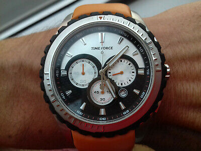 TIME FORCE Vintage Collection Chronograph TF2911M12 NOS Watch Montre Watch • 160.72£