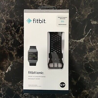 $ CDN14.98 • Buy Genuine FitBit Ionic Sport Accessory Band Replacement Black Authentic Small NEW