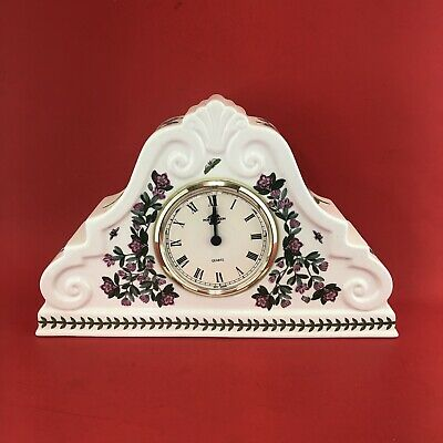 Portmeirion Botanic Garden Mantle Clock Pink Rhododendron Discontinued • 92.66£