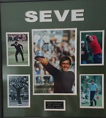 An Amazing Seve Ballesteros Signed Montage • 225£