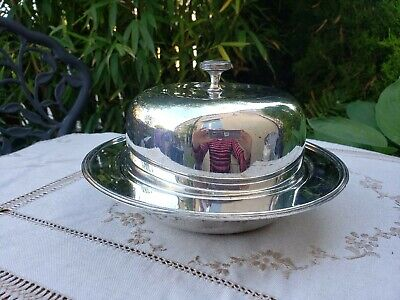 ANTIQUE SILVER PLATED MUFFIN CHEESE BUTTER CAKE SERVING DISH BIRMINGHAM CG & Co • 13£
