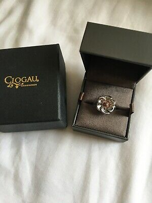Clogau Gold Sterling Silver And 9ct Gold Welsh Poppy Ring • 49.95£