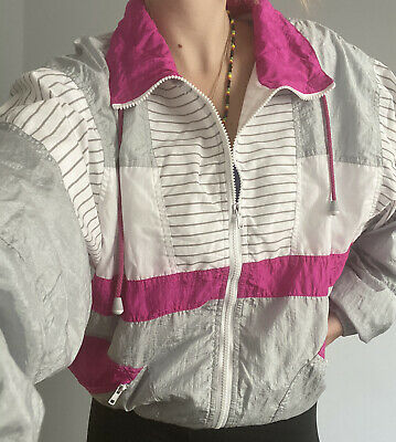 Pink Grey And White Shellsuit - Size M • 5£