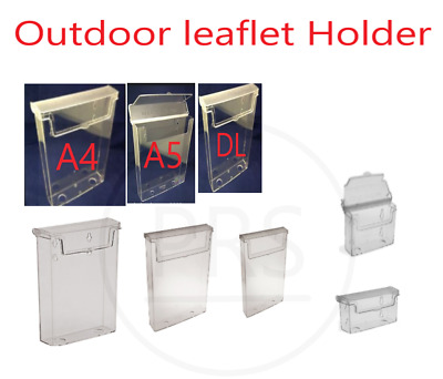 £7.99 • Buy Outdoor Leaflet Holder   Menu Displays, Business Card Holders A4 A5 A6