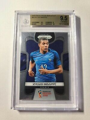 $ CDN1070.55 • Buy 2018 Panini World Cup Prizm Kylian Mbappe Rookie RC Base BGS 9.5 GEM MINT FRANCE