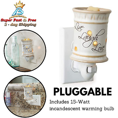Scentsy MINI PLUG IN Warmer new in box but DISCONTINUED styles NIB FREE SHIPPING