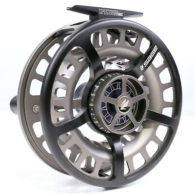 $500 • Buy Sage Spectrum Max Reel - Squid Ink/Silver -ALL SIZES- FREE LINE/BACKING/SHIPPING