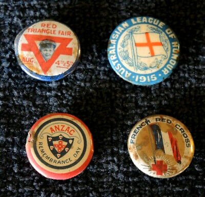 AU27.50 • Buy Ww1 4 Charity Badges Anzac Remembrance French Red Cross Ymca League Of Honour #4